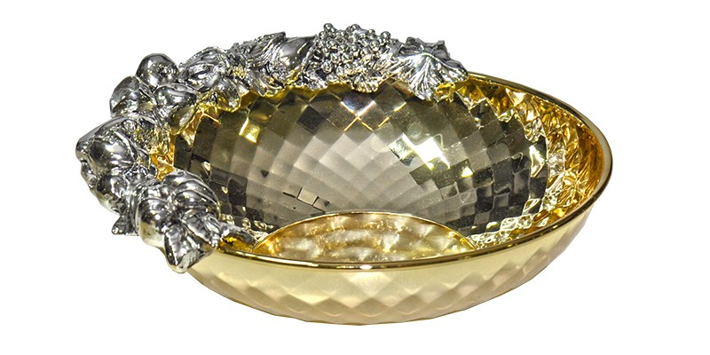 Tigela Chinelli Diamante Dourado