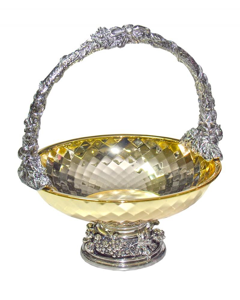Cesta Chinelli Diamante Dourado