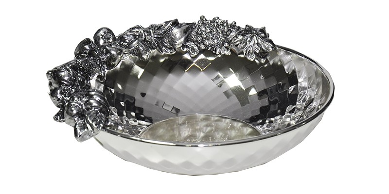 Tigela Chinelli Diamante Prata