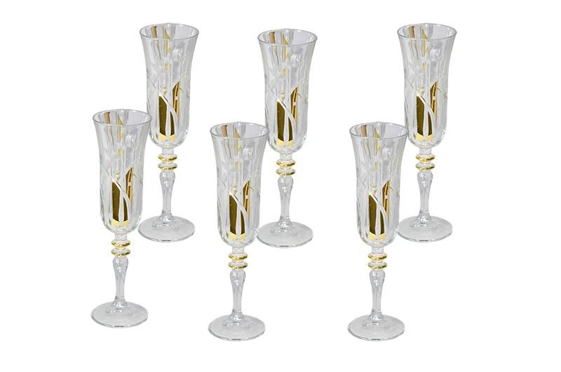Conjunto Enesco Sude Para Champagne 6 Taças