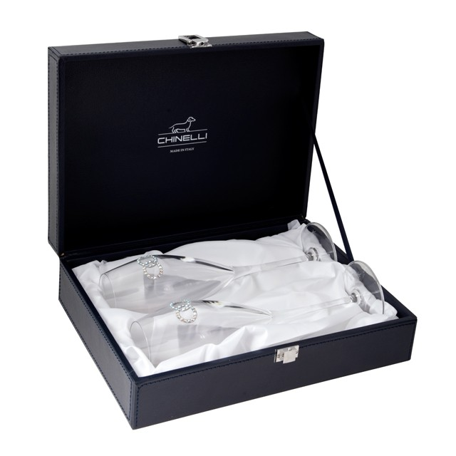 Conjunto Chinelli Atelier Fedi Para Champagne 2 Taças