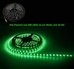 Fita Flexível com 300 LEDs na cor Verde, rolo de 5m