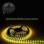 Fita Flexível com 300 LEDs na cor Amarela, rolo de 5m
