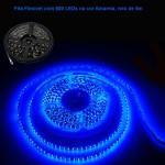 Fita Flexível com 600 LEDs na cor Azul, rolo de 5m